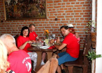 Delegacja z Litwy - widać, że nasze potrawy smakują :)